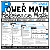 5th Grade Guided Math Resources Fractions NO PREP Small Gr