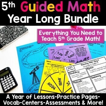 5th Grade Guided Math -The Bundle {GROWING}