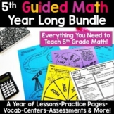 5th Grade Guided Math -Year Long Bundle