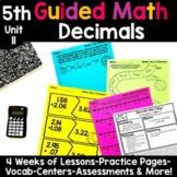5th Grade Guided Math -Unit 11 Decimals