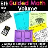 5th Grade Guided Math -Unit 13 Volume