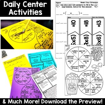 5th Grade Guided Math -Unit 4 Numerical Expressions