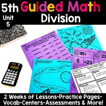 5th Grade Guided Math -Unit 5 Division