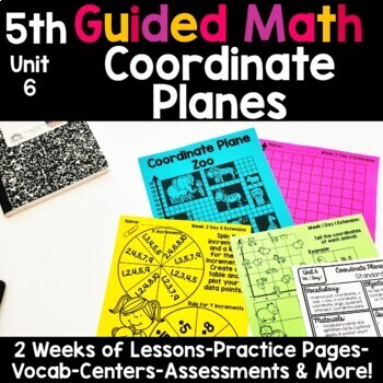 5th Grade Guided Math -Unit 6 Coordinate Planes