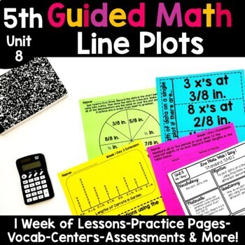 5th Grade Guided Math -Unit 8 Line Plots