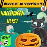 5th Grade Halloween Heist Math Mystery Activity Printable & Digital Worksheets