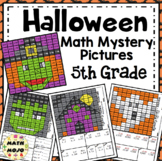 5th Grade Halloween Math Mystery Pictures: Halloween Color