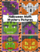 5th Grade Halloween Math Mystery Pictures: Halloween Color By Number Activities