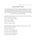 5th Grade Halloween Math Project