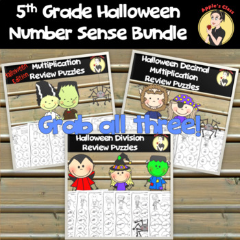 5th Grade Halloween Number Sense Games
