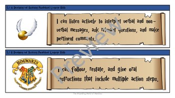 5th Grade Harry Potter ELAR Objective Statements