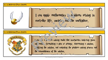 5th Grade Harry Potter Math Objective Statements