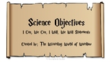 5th Grade Harry Potter Science Objective Statements