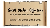 5th Grade Harry Potter Social Studies Objective Statements