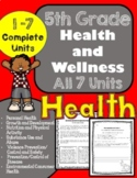 5th Grade Health Unit for the ENTIRE Year!! (Meets Common Core)