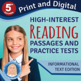 5th Grade High-Interest Informational Texts & PRACTICE TES