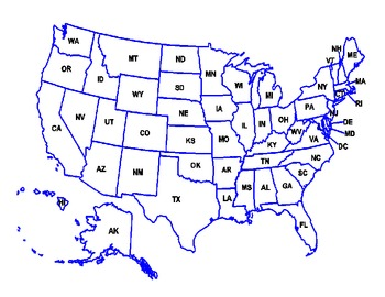 5th Grade Historical and Geographical Locations Map and Q&A Activity/test prep