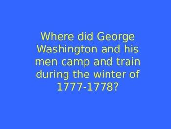 5th Grade History Alive Chapter 13 Jeopardy (Revolutionary War)