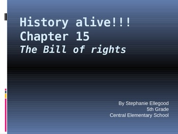 5th Grade History Alive Chapter 15 PowerPoint