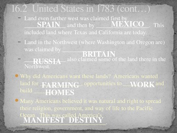 5th Grade History Alive Chapter 16 PowerPoint