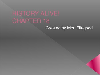 5th Grade History Alive Chapter 18 PowerPoint
