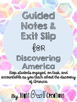 5th Grade History Alive- Chapter 4 Recap (Notes Page) & Exit Slip