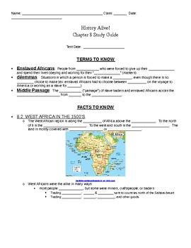 5th grade history alive chapter 8 study guide by stephanie ellegood rh teacherspayteachers com World History 2 Study Guide Study Island Cheats