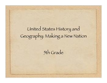 5th Grade History/Social Studies Standards for California