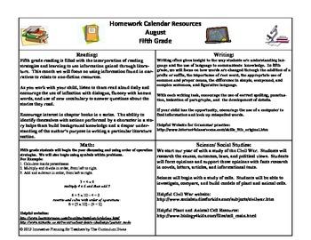 fifth grade homework