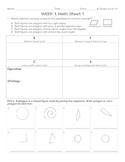 5th Grade Homework Package Geometry