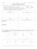 5th Grade Homework Package Geometry