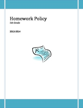 5th Grade Homework Policy