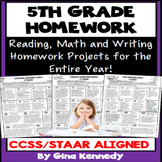 5th Grade Homework, Math, Reading and Writing Homework for