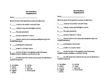 5th Grade Houghton Mifflin Vocabulary Tests
