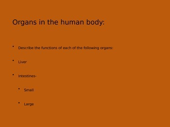 5th Grade-Human Body PPT