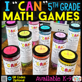 5th Grade I CAN Math Games | Math Centers | BUNDLE