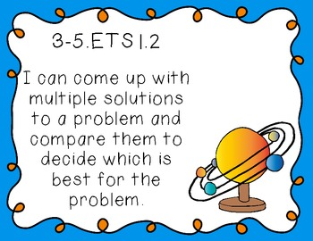 "5th Grade ""I Can"" Printables for Next Generation Science Standards (NGSS)"