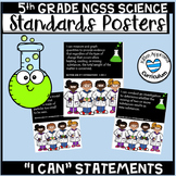 """Science Bulletin Board """"I Can"""" Statements NGSS 5th"""