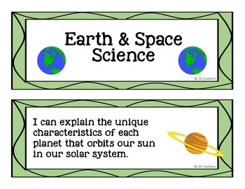 5th Grade I Can Statements for Science (kid friendly with colorful graphics)