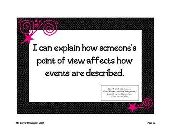 """5th Grade """"I Can"""" statements CCSS (pink)"""