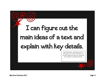 """5th Grade """"I Can"""" statements CCSS (red)"""