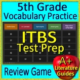 5th Grade ITBS Test Prep Reading Vocabulary and Figurative Language Review Game