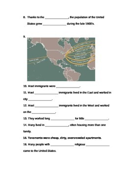 5th Grade Immigration Note Sheet
