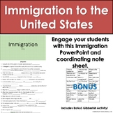 **No Prep** Immigration to the United States PPT and Activity