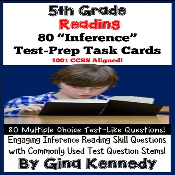5th Grade Inference Task Cards, Reading Test-Prep