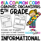 5th Grade Informational Common Core Graphic Organizers