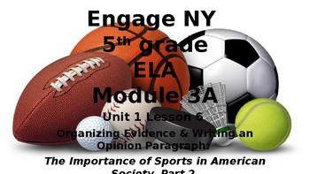 5th Grade Informational Text Activity: Engage NY Module 3a Unit 1 Lesson 6