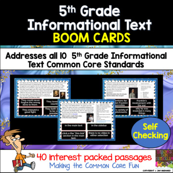 5th Grade Informational Text Boom Cards