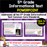 5th Grade Informational Text PowerPoint