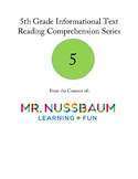 5th Grade Informational Text Reading Comprehension Series